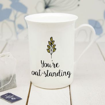 Personalised Oat-Standing Bone China Mug